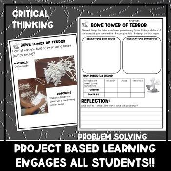Halloween K-2 STEM Challenges