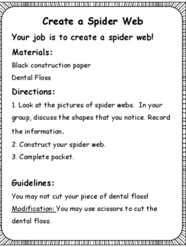 Halloween STEM: Create a Spider Web