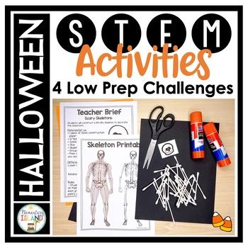 Halloween October STEM Engineering Challenges