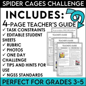 Halloween STEM Quick Challenge Build a Spider Cage