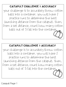 Halloween STEM Response Booklet
