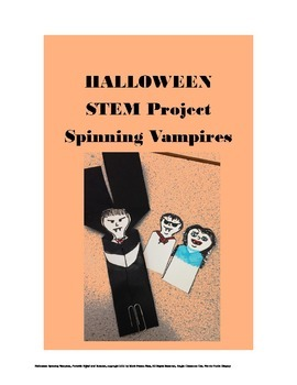Halloween STEAM - Spinning Vampires