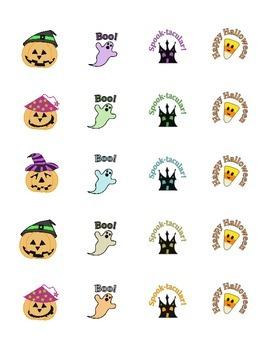 Halloween STICKERS * Pumpkin * Ghost * Haunted House * Candy Corn