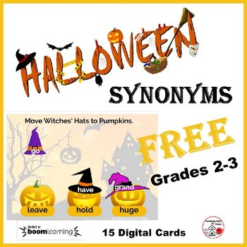 Halloween SYNONYMS ... Grades 2-3 Vocabulary  FREE Internet Deck
