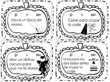 Halloween Safety Activities in Spanish
