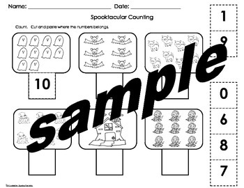 Halloween Safety Booklet and Math activities pack