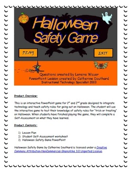 halloween safety game by mrsd5107 teachers pay teachers