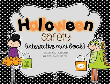halloween safety interactive mini book by miss kindergarten love