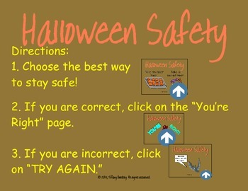 Halloween Safety PDF Interactive Game to Learn how to Trick-or-Treat Safely