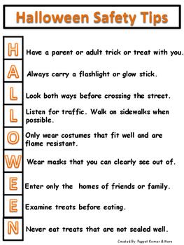 Halloween Safety Handout