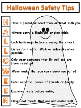 Halloween Safety Handout