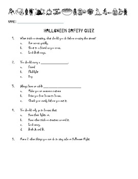 Halloween Safety Quiz