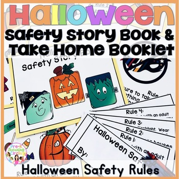 Halloween  Safety Story Book & Students Take-Home Safety Flipbook