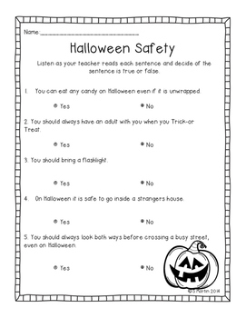 Halloween Safety Test