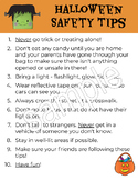 Halloween Safety Tips Handout Elementary Grades