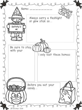 Halloween Safety for Shared Reading and Writer's Workshop