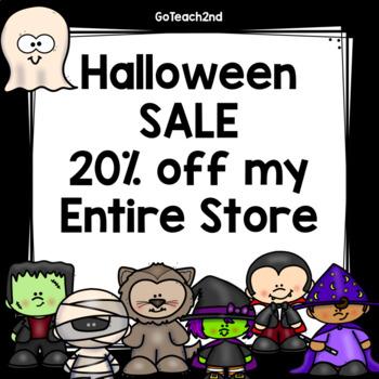 Halloween Sale 20% of October 30-31