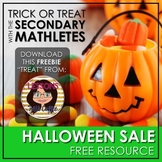 "Halloween Sale ""Treat"" - Limited Edition Secondary Mathletes"