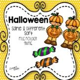 Halloween Same & Different File Folder Game