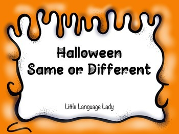 Same/Different Halloween Bingo | TeacherLingo.com