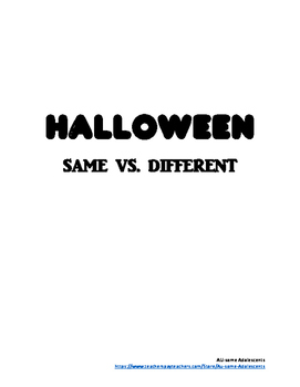 Halloween Same vs. Different FREEBIE