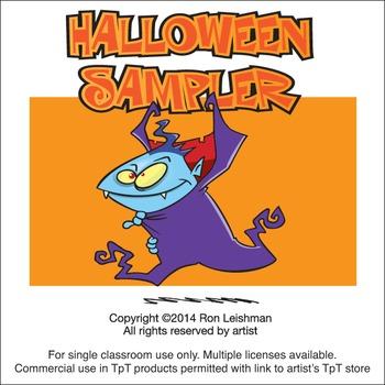 Halloween Sampler Cartoon Clipart