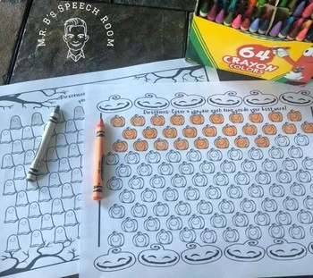 Halloween Say and Color: Speech, Articulation Theapy