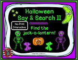 Halloween Say and Search II, Find the Jack-o-Lantern