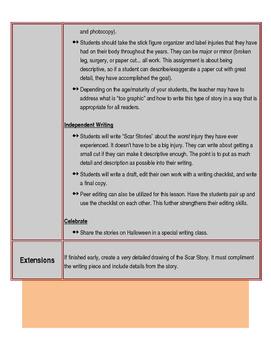 Halloween Scar Stories (Descriptive Narrative Writing Lesson)