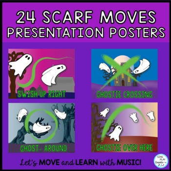 Halloween Scarf Activities for Music, PE, Special Needs and Classroom Teachers