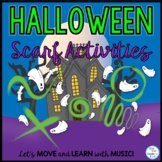 Halloween Scarf Activities Video with Music for PE, Music,