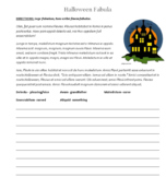 Halloween Scary Latin Story - Write Your Own Ending!