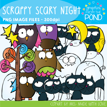 Halloween Scary Night - Scrappy Clipart