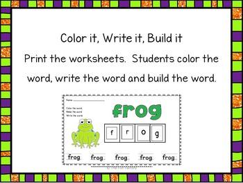 Halloween Literacy Centers & Worksheets ~ Short Vowels  ~