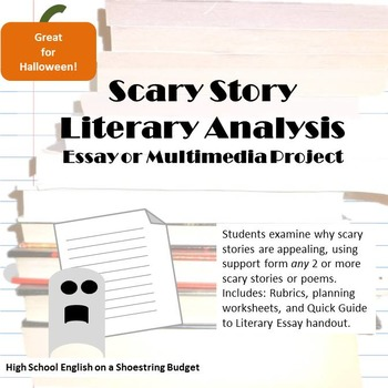 Scary Story Writing Rubric & Worksheets | Teachers Pay Teachers
