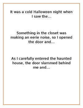 Halloween Scary Story Starters