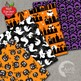 Halloween Digital Papers, Scary Scrapbook Papers, AMB-152