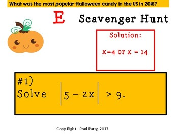Scavenger Hunt - Absolute Value Equations & Inequalities