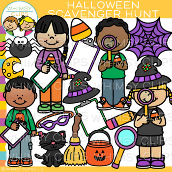 Halloween Scavenger Hunt Clip Art {October Clip Art}