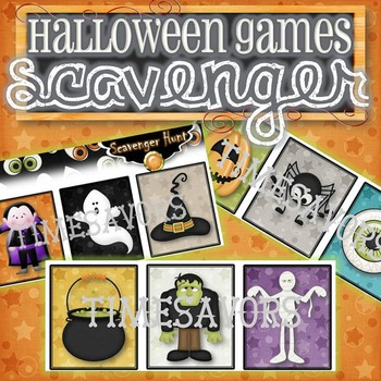 Halloween Scavenger Hunt Game