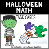 Math Word Problems- Halloween Task Cards