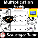 Halloween Scavenger Hunt Multiplication Freebie