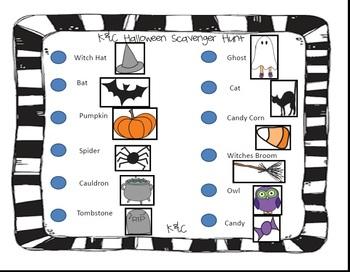 Halloween Scavenger Hunt {Prepositions of Place}