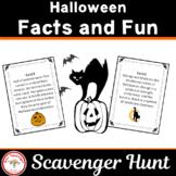Halloween Scavenger Hunt and riddles match-up activity