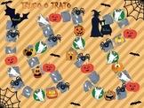 Halloween Scavenger board game in Spanish - Juego Hallowee