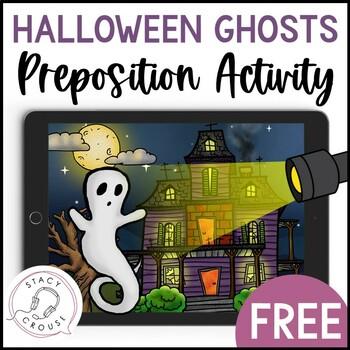 Halloween Scene and Preposition Activity