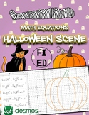 Halloween Scene using Math Equations | Activity for Online