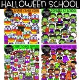 Halloween School Bundle {Halloween Clipart}