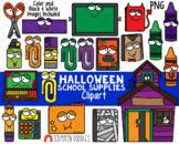Halloween School Supplies Clipart {Scrappin Doodles Clip Art}