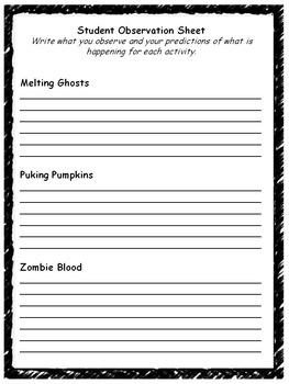 Halloween Science Activities Part 2